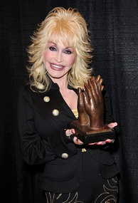 Dolly Parton accepting Applause Award for Dollywood, November 2010.