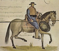18th century soldado de cuera in colonial Mexico