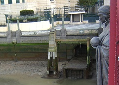 Diverted outflow of the River Effra into the Thames, beneath Drury's Science