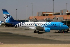 EgyptAir Express Embraer 170 at Cairo International Airport