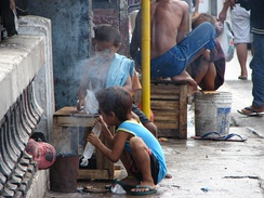 Street children in Cebu, Philippines