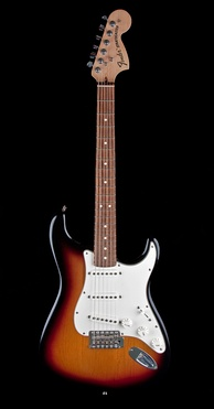 Fender Stratocaster has one of the most often emulated electric guitar shapes[18][19]