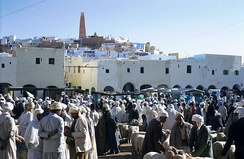 Market on the main square of Ghardaïa (1971)