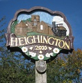 Heighington village sign - outside the village hall since 2000