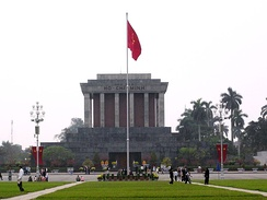 The Ho Chi Minh Mausoleum in the capital city of Hanoi, pictured in 2006.