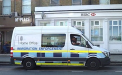A Home Office Immigration Enforcement vehicle in north London.
