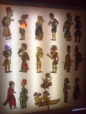Characters of Karagöz and Hacivat.