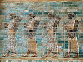 Frieze of archers, circa 510 BC, from the Palace of Darius at Susa, now in Louvre