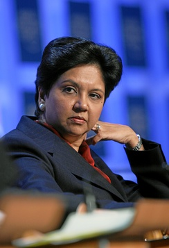 Indra Nooyi, former chairman and chief executive officer of PepsiCo