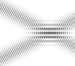 Interference fringes in overlapping plane waves