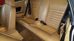 Rear seats of a 1982 Jaguar XJ-S HE coupe, showing the 2+2 seating layout.