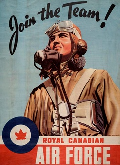 Second World War recruiting poster for the RCAF.