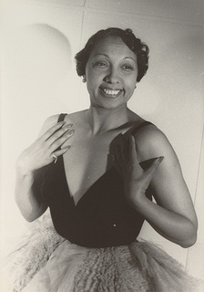 Josephine Baker, the St. Louis-born French singer featured in the Broadway revue Shuffle Along, photographed by Carl Van Vechten, 1949