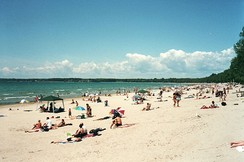 Summer at Sandbanks Provincial Park on Lake Ontario.