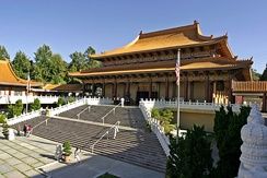 "Hsi Lai Temple (""Coming West Temple""), a Buddhist monastery in Hacienda Heights, California, near Los Angeles"