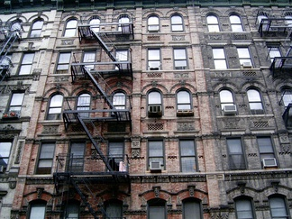 Tenement buildings on the Lower East Side