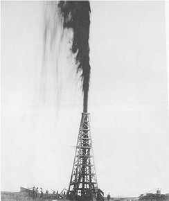 Lucas Gusher, Spindletop near Beaumont, Texas