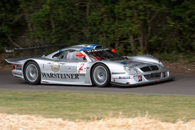 Mercedes-Benz won all ten races with the CLK GTR and CLK LM (pictured)
