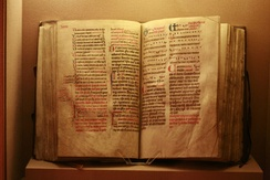 Dominican Missal, c. 1240, with rubrics in red (Historical Museum of Lausanne)