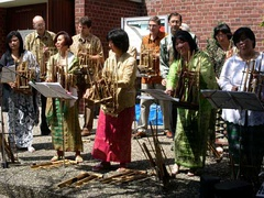 MKIF Angklung Group performance in Germany.
