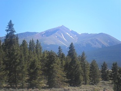Mount Elbert in the Sawatch Range of Colorado is the highest peak of the Rocky Mountains and the Mountain States.