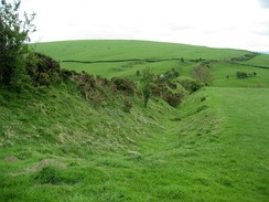 Section of Offa's Dyke near the Shropshire town of Clun, constructed after the Saxon annexation of the area in the 8th century AD.