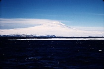 Mount Erebus in December 1955