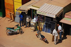 Shop selling PV panels in Ouagadougou, Burkina Faso