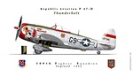 P47D 509th Fighter squadron England 1944