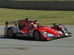 Mathias Beche in Oreca 03-Nissan in Petit Le Mans 2012