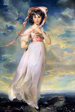 "The portrait of Sarah Moulton, popularly known as ""Pinkie"", by Sir Thomas Lawrence (1794). Here pink represented youth, innocence and tenderness."