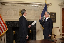 Powell sworn in as chair in 2018