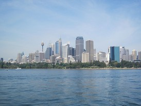 Skyline of the Sydney central business district