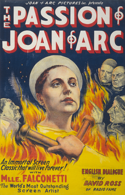 The poster for Dreyer's The Passion of Joan of Arc
