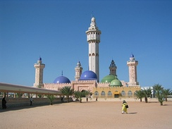 The Great Mosque of Touba; home of the Mouride Sufi brotherhood, it is also one of the finest examples of Islamic architecture in Africa.