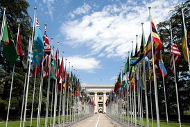 In 2012 alone, the Palace of Nations in Geneva, Switzerland, hosted more than 10,000 intergovernmental meetings. The city hosts the highest number of International organizations in the world.[1]