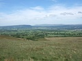View from Pendleton Moor, looking north across the Ribble valley.