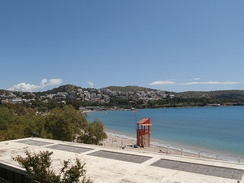 Beach in Vouliagmeni, one of the many beaches in the southern coast of Athens