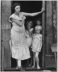 Wife and children of a sharecropper in Washington County, Arkansas, c. 1935