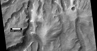 Channels in Sklodowska Crater, as seen by HiRISE under the HiWish program.