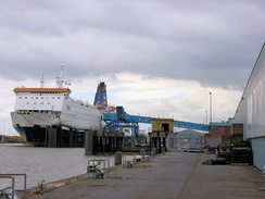 Hull to Zeebrugge ferry at King George Dock