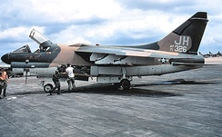 Ling-Temco-Vought A-7D-10-CV Corsair II, AF Ser. No. 71-0326, of the 3d TFS at Korat RTAFB, 1974