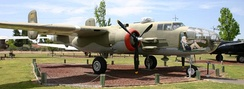 B-25J 44-86891 Lazy Daisy Mae at former Castle AFB, California