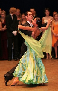 A ballroom dance exhibition