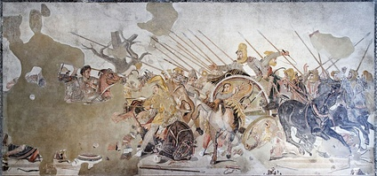 The Alexander Mosaic, a Roman mosaic from Pompeii, Italy, c. 100 BC