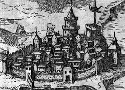The Old town in 1615.