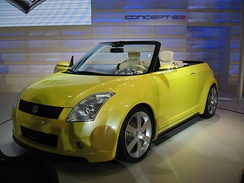 Suzuki's Concept S2 previews design concepts for the second generation Swift at the 2003 Osaka Auto Messe