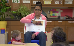 The Cherokee language taught to preschoolers as a first language, at Kituwah Academy