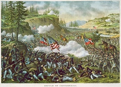 The Battle of Chickamauga, the highest two-day losses.