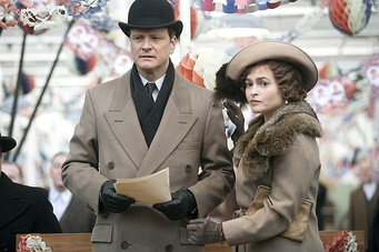 Colin Firth and Helena Bonham Carter as the Duke and Duchess of York